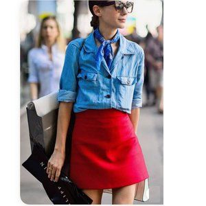 🔥Take 50%OFF🔥 Jacob Red Skirt. Size 6